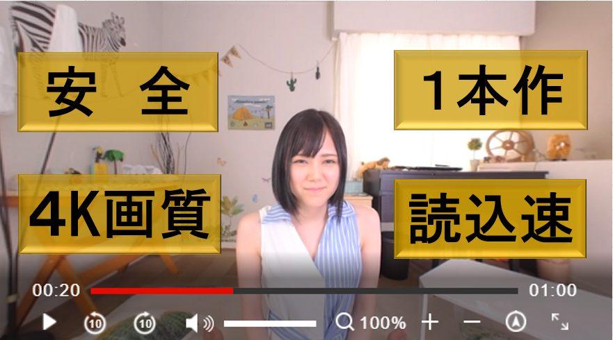 アダルト見放題サービスは安全、1本作、読込速い、4K画質